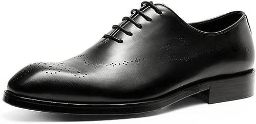 GDXH Herren Lederschuhe Sommer Klassische Schuhe British Spitzschuh Lace Up Leder Hochzeitsschuhe Formale Schuhe