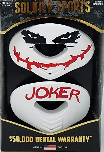 Soldier Sports New: Joker Elite Air Lip Protector Mouthguard 2-Pack (One Size Fits All, White, Red, Black)