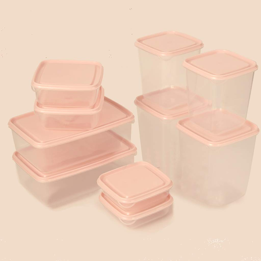 Caja de almacenamiento de alimentos rizador cocina, recipiente de plástico reutilizable almacenamiento de alimentos con tapa, rizador de plástico apilables, más nítidas refrigerador, caja de fruta fre: Amazon.es: Hogar