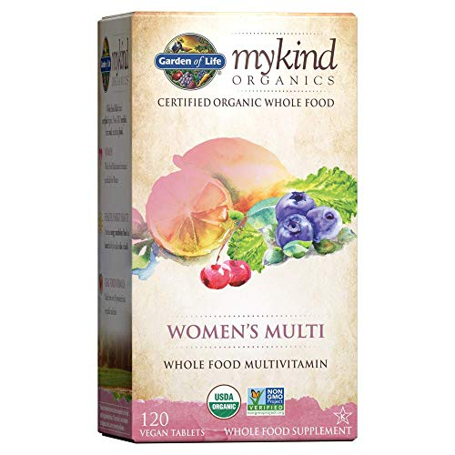 Garden of Life Vegan Women mykind Organic Women Whole Food Vitamin Supplement, 120 Count (Pack of 1)