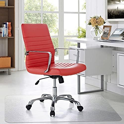 AECCN Bürostuhl Unterlage - Hochwertige Bodenschutzmatte aus Polycarbonat für Schreibtischstuhl Hartholzboden, rutschfest & Transparent (91,4 cm x 122 cm Rechteckig)
