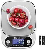 Newdora Küchenwaage Smart Digital Lebensmittelwaage mit Tara-Funktion LCD-Bildschirm 5 kg Professionelle elektronische Präzisionswaage zu Hause (Batterien enthalten)
