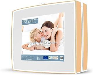 ZZZEN Couette 4 Saisons Bi-matière Coton & Laine Mérinos Bio Gots 450 g - 150 + 300 g/m² - Enveloppe Coton et garnissage L...