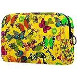 Bolsa de cosméticos vintage retro hipster steampunk, adorable, espaciosa, bolsa de maquillaje, bolsa de aseo de viaje, organizador de accesorios Color03 7'x3'x5'