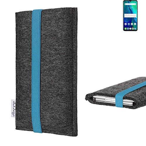 flat.design vegane Handy Tasche Coimbra für Ulefone Power 6 - Schutz Hülle Tasche Filz vegan fair türkis