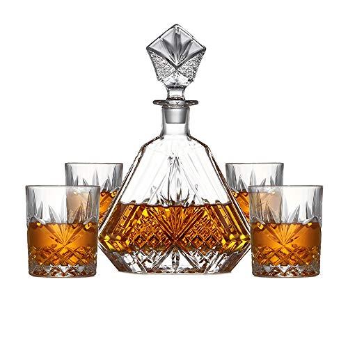 GAONAN Piombo Cristallo Bicchiere di Whisky Set di Vetro Vino Decanter Wine Set