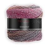 Pro Lana Diamant Couleur 91 Laine avec dégradé de couleur, 1 pelote = 1 écharpe, 150 g, 525 m