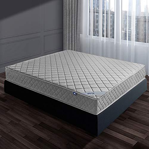 MASALING Schlafzimmermatratze, 120 cm x 200 cm Komfortable Slow Rebound Tencel Baumwollmatratze, 20 cm Hohe Matratze, King Single Stilvolle Möbel Schlafzimmermatratze, Grau