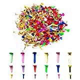600 Pieces Split Craft Pins Scrapbooking Brads Paper Fasteners with Assorted Colors and Sizes