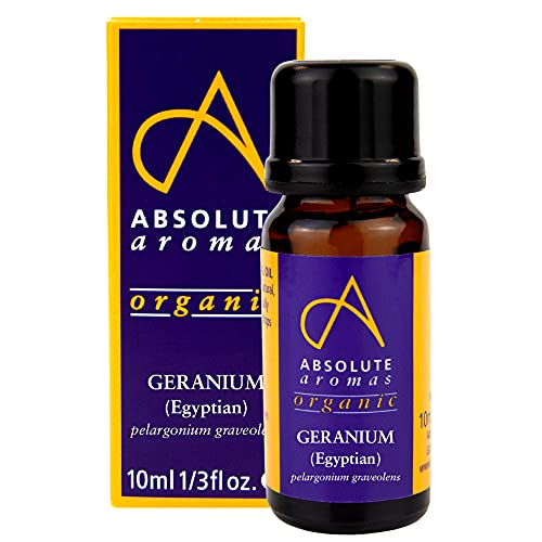 Absolute Aromas Aceite Esencial Geranio Egipcio BIO 10ml - 100% puro, natural, orgánico certificado, sin diluir, vegano