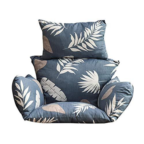 Schaukelkissen|Hängesessel Kissen|Auflage für Polyrattan/Rattan Hängeschaukel, Abnehmbare Waschbare Rückenkissen 100 Polyester