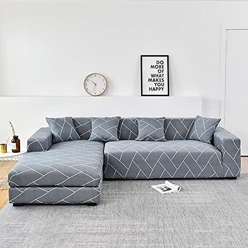 WXQY L-Form muss 2 Stück Sofabezug, elastische Sofa Handtuch Sesselbezug, für Ecksofa Möbelschutzbezug A25 2-Sitzer bestellen