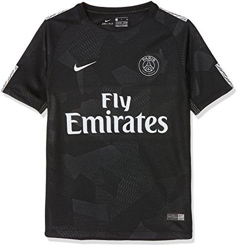 NIKE PSG Y Nk BRT Stad JSY SS 3R Camiseta 3ª Equipación Paris Saint Germain 17-18, Unisex niños, Negro (Black/Pure Platinum), S