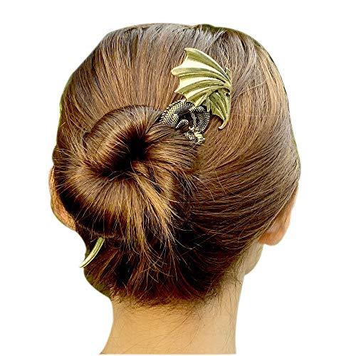Viking Celtic Hair Clips Hairpin-Dragon Hair Sticks Ladies Hair Accessories for Long Hair Slide Pin Irish Hairstick Celtic Knot Viking Jewelry (Dra)
