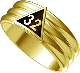 T87 Scottish Rite 32 Degree Stainless Steel Ring 32nd Thirty Second Freemason Mason
