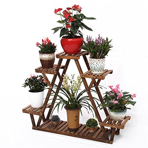 Bloemen Frame/Outdoor Plant Stands/Bloem Stands Houten Hoek Planken voor Stipe Bloemenplank met Tuinplanten Stand voor Bloem Potten/Indoor Tuinplanken of Outdoor voor Ba