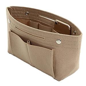 ddice バッグインバッグ フェルト 大きめ Mサイズ インナーバッグ 軽量 バッグ ポーチ レディース バッグの中を整理整頓 バックインバック (ベージュ)