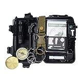 Decor Survival Tarn Kit 14 in 1, Notfall EDC Survival Tools SOS-Erdbebenhilfsausrüstung, Coole...