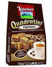Loacker Quadratini Espresso Wafer - 110 gm