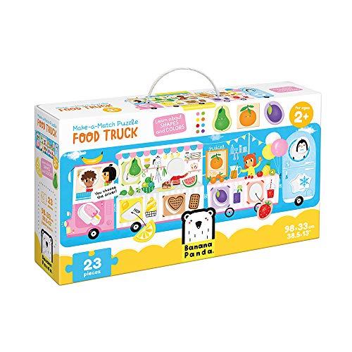 Banana Panda 49045 Food Truck, Shapes and Colors Puzzle, zuordnungsaktivität, Spiel