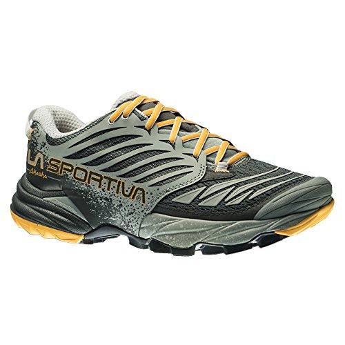 La Sportiva Akasha Women's Trail Running Shoe, Grey/Papaya, 37
