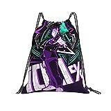 Tbx1os Mo-B PSY-Cho 100 Sac à dos avec cordon de serrage Sports Yoga Gym Bag pour femmes hommes enfants 36x43cm