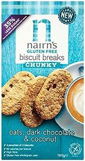 Nairn's Gluten Free Oats, Dark Chocolate & Coconut Breakfast Biscuit Breaks - 160g (0.35 lbs)