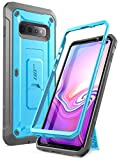 SupCase Hülle für Samsung Galaxy S10+ Plus Handyhülle Outdoor Case Bumper Schutzhülle Robust Cover [Unicorn Beetle Pro] OHNE Displayschutz mit Gürtelclip und Ständer 2019 Ausgabe (Blau)