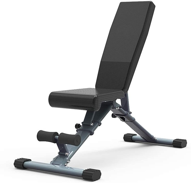 DUXX ダンベルベンチ、フィットネスチェア折り畳み式ホームのベンチプレスシットアップエイズ腹部ボード(2色) トレーニングベンチ