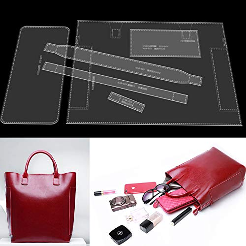 NW AAB-553 Handbag Acrylic Template Leather Pattern Acrylic Leather Pattern Leather Templates for Tote Bags