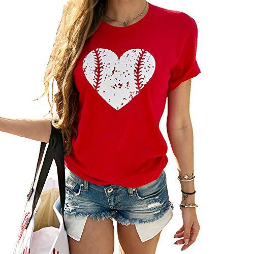 Women's Casual Short Sleeve Print T Shirts Summer O Neck...