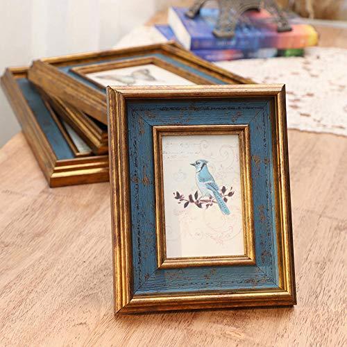 Xqsb Marcos de Foto Estilo Moderno Marco para Fotos Environmental Protection Resin 25.3 × 30.3cm Hanging Pendulum Blue