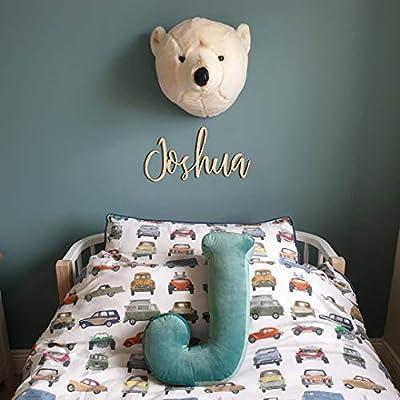 MOMAID Velvet Letter Pillow Soft Initial Throw Cushion Decorative Alphabet Kids Room Nursery Decor Baby Toddler Gift (Green, Letter J)
