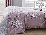 Catherine Lansfield Canterbury Tagesdecke, leicht zu pflegen, Heather, Bedspread - 220x230cm