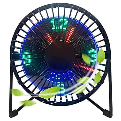 AFAF Ventilador Eléctrico USB Reloj LED, Pequeños Electrodomésticos Escritorio Mesa Ideal Escritorio Compatible Power Bank Portátil Ventilador Sobremesa