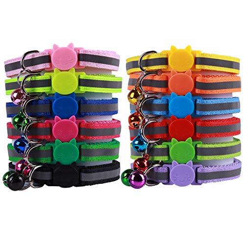 Bostecks Reflektierende Halsbänder für Katzen, schnell mit Glocke, geeignet und...