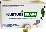 Nurture Brain High Concentration Triglyceride Omega 3 DHA for Healthy Brain Function Ideal for Men, Women, Teens, & Seniors (600 mg Concentrated DHA per dose) 60 softgels