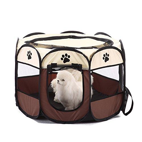 Jiacheng29 Parc de jeu portable et pliable pour animal domestique, chien, chat, chiot