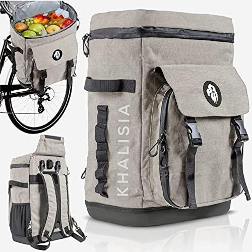KHALISIA Kühltasche - 3in1 Fahrradtasche für Gepäckträger - Picknicktasche - Lunchtasche - Thermotasche hält kalt und warm