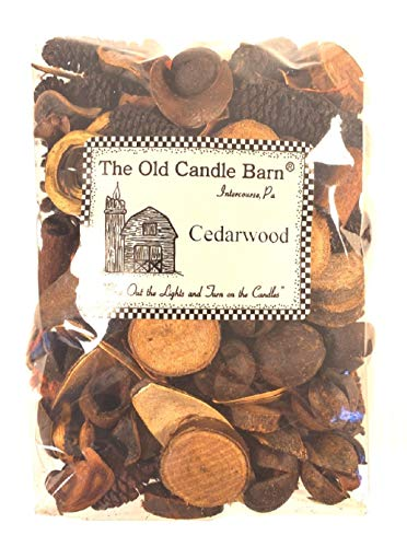Old Candle Barn Cedarwood Potpourri 4 Cup Bag - Perfect Country House Decoration or Bowl Filler - Beautiful Clean Crisp Scent