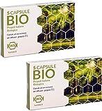 2x Kontak Propoli Bio Italiana Capsule Per Diffusori Ambientali, 5 capsule Propolair - Pacchetto contenete 2 confezioni da 5 capsule | Difese Immunitarie, respirazione [+ Omaggio a Marchio Vipharma]