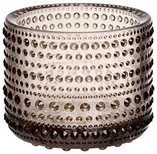 【正規輸入品】 iittala (イッタラ) キャンドルホルダー Kastehelmi リネン 約φ78×H63mm 1051433