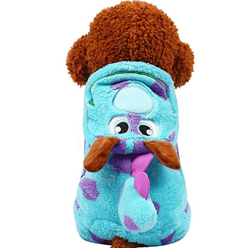 CWYP Huisdier kleding Teddy hond herfst en winter schattige dikke kleding bubble draak transformeren kleding comfortabele warme kleding (kleur: blauw)