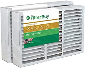 FilterBuy 16x25x5 Air Filter MERV 11, Pleated Replacement HVAC AC Furnace Filters for Honeywell, Air Kontrol, Bryant, Carrier, Day & Night, Lennox, and Payne (2-Pack, Gold)