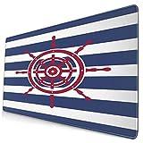 HUAYEXI Alfombrilla Gaming,Ilustración del Icono del Volante del Barco sobre un...
