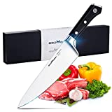 Godmorn Chef Knife 8 Inch Japanese AUS-8 Stainless Steel Professional Kitchen Knife with G10 Ergonomic Handle Full Tang Design Come in An Attractive Gift Box Quality Warranty Provided