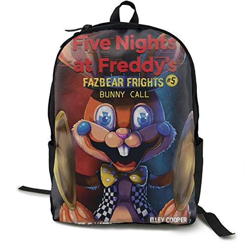 Freddie'S Five Nights At Freddy'S (59) Mochila para la escuela universitaria Estudiante Bookbag Negocios Portátil Viaje Cofre Maletas Correas Noche Luz Reflectante