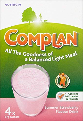 Complan Strawberry Shake, 4 x 57 g Sachets