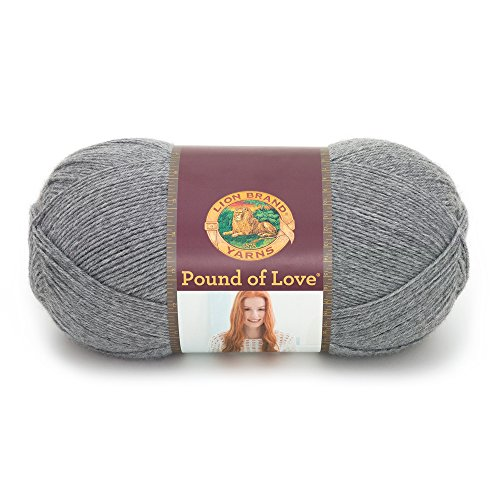 Lion Brand Yarn 550-150 Pound of Love Yarn, One Size, Oxford Grey