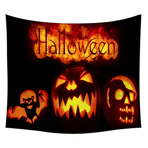 Halloween Tapestry Pumpkins Tree Print Wall Hanging Tapestry Art Home Decoration Wall Hanging for Room